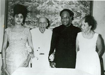Fatia Nkrumah, W.E.B Du Bois, Kwame Nkrumah et Shirley G Du Bois