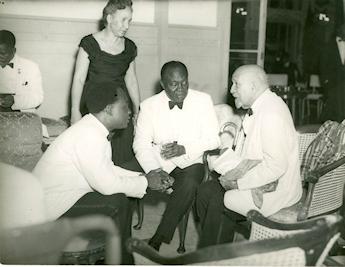 En juillet 1963 au Ghana avec Kwame Nkrumah
