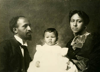W.E.B Du Bois, son fils Burghardt et Nina Du Bois