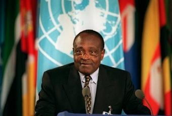 Ferdinand Leopold Oyono en 1993