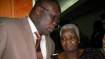 Serigne Mamadou Bousso Lèye,ministre de la culture du Sénégal et Mme Christiane Diop