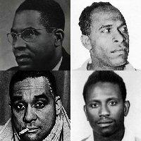 Dans le sens des aiguilles d'une montre : Aimé Cesaire, Frantz Fanon, Cheikh Anta Diop, Richard Wright