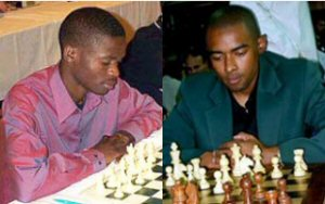 Amon Simutowe (Zambie) et Kenny Solomon (Afrique du Sud)
