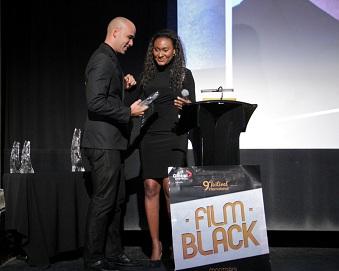Fabienne Colas, présidente du festival du film black de Montreal et Kim Nguyen