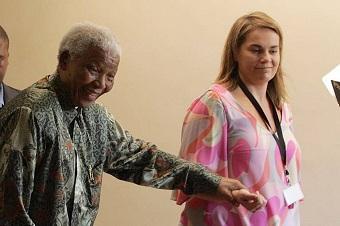 Zelda La Grange et Nelson Mandela