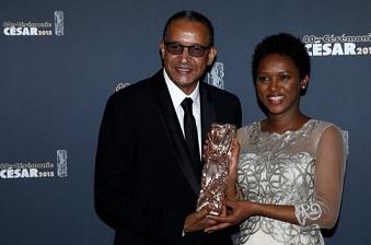 Abderrahmane Sissako et son épouse à la cérémonie des Césars