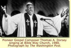 """Le compositeur et pianiste Thomas A. Dorsey, considéré comme """"le père du negro spiritual"""