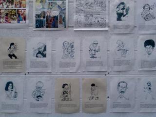 Caricatures représentant les membres de l'association