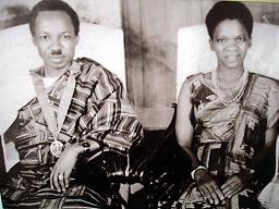 Julius Nyerere et son épouse