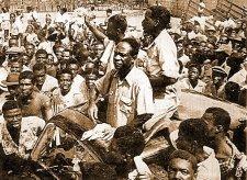 Kwame Nkrumah à sa libération de prison en 1951