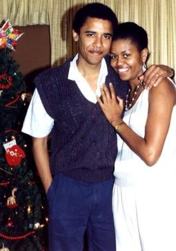 Barack et Michelle Obama au début des années 90
