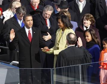 La prestation de serment le 20 janvier 2009