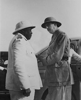 Felix Eboué et le général de Gaulle