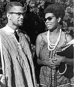 Maya Angelou et Malcolm X au Ghana en 1964