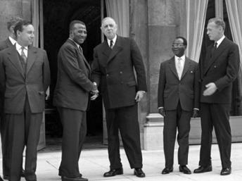 De Gaulle et Sylvanus Olympio le 16 septembre 1960 à l'Elysée