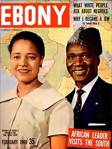 Sékou Touré en couverture du magazine afro-américain ''Ebony'' de février 1960