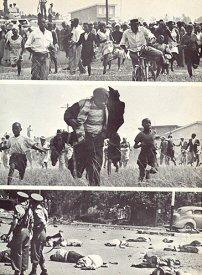 Une soixantaine de personnes furent tuees à Sharpeville en 1960