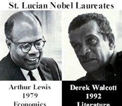 Arthur Lewis et Derek Walcott, deux prix Nobels de Sainte-Lucie