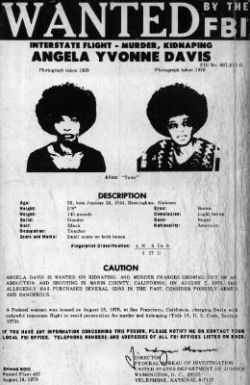 Angela Davis sur la FBI � Most wanted list �