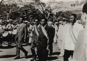 Proclamation de la r�publique centrafricaine le 1er d�cembre 1958
