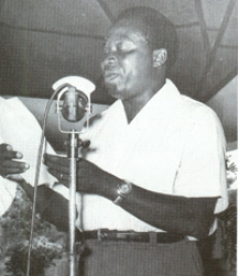 Lors d'un discours � Brazzaville
