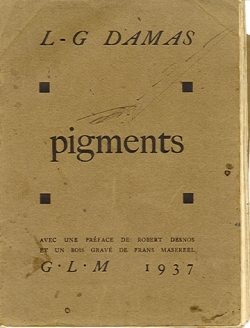 Couverture de la 1�re �dition de Pigments, en 1937