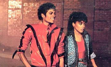 Michael Jackson et Ola Ray dans ''Thriller''