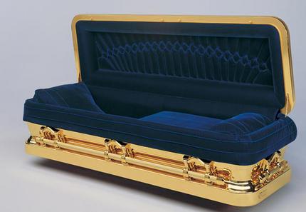 cercueil en or