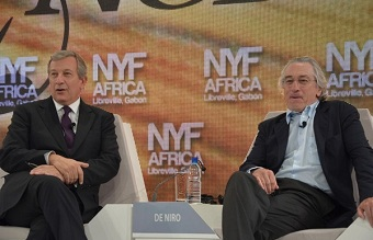 Robert de Niro et Richard Attias lors de l'édition 2012 du New York Forum