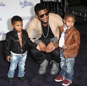 Usher et ses deux enfants