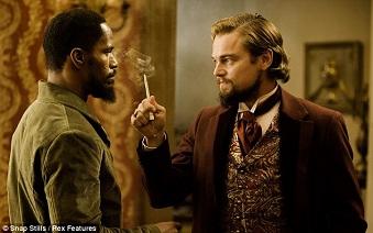 Jamie Foxx et Leonardo Di Caprio dans ''Django Unchained''