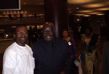 Mohammed Jalloh avec l'ex-président zambien Kenneth Kaunda