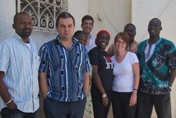 Avec des membres de l'équipe d'International Crisis Group à Dakar