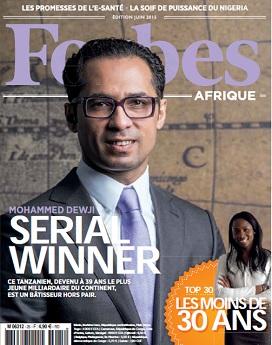 En couverture de ''Forbes Afrique''