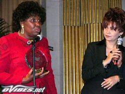 Sandrah Montieux Pelage et Benedita Da Silva, ex-gouverneur et l�gende vivante au Br�sil