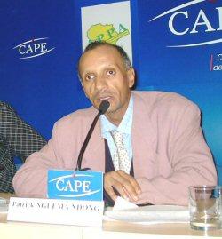 Patrick Nguema Ndong au Centre d'Accueil de la Presse Etrangère