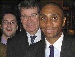Jean-Claude Beaujour en compagnie de Xavier Darcos, ministre de l'éducation